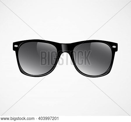 Black Sunglasses Vector Illustration Template Black Sunglasses Vector Illustration Template