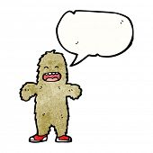 cartoon big foot with speech bubble poster