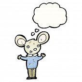 cartoon mouse with thought bubble poster