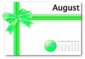 August of 2013 calendar for gift pack design poster
