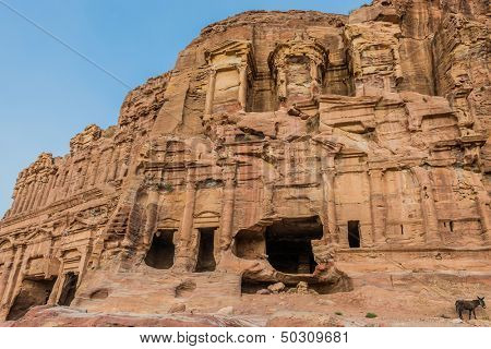 the Corinthian Tomb in nabatean petra jordan middle east poster