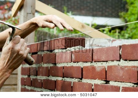 Bricklayer With Trowel