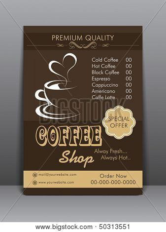Menu Card design for Coffee House. poster