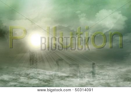 Big City In The Pollution Fog