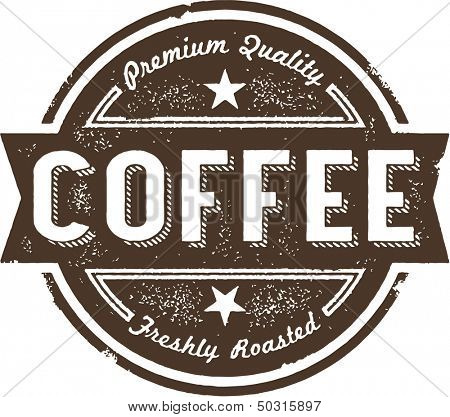 Vintage Fresh Coffee Label Stamp