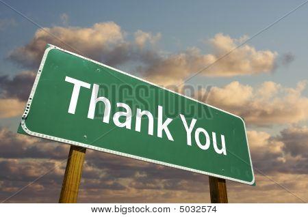 Danke, dass Sie grün Straßenschild
