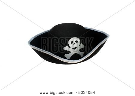 Pirate Hat With Skull Isolated