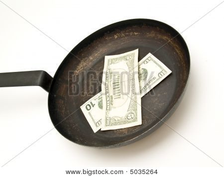 Skillet With Dollars