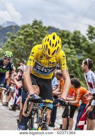 Yellow Jersey On Alpe D'huez