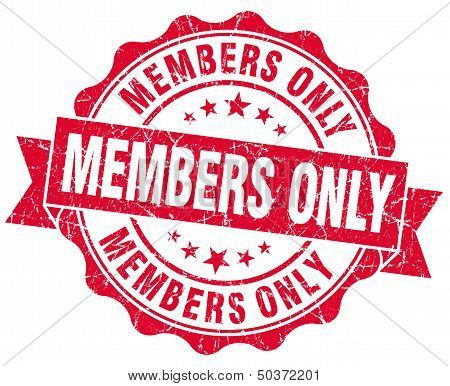 Members Only Grunge Red Stamp
