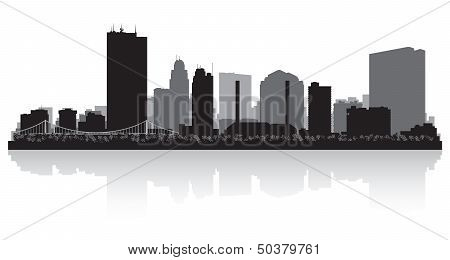 Toledo Ohio City Skyline Silhouette