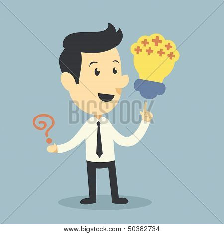Businessman And Thinking Positive Concept