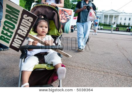 Immigrant Families March To White House