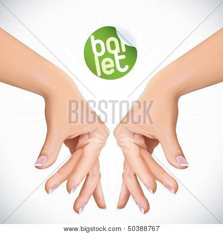 Vector Ballet Hands Illustration