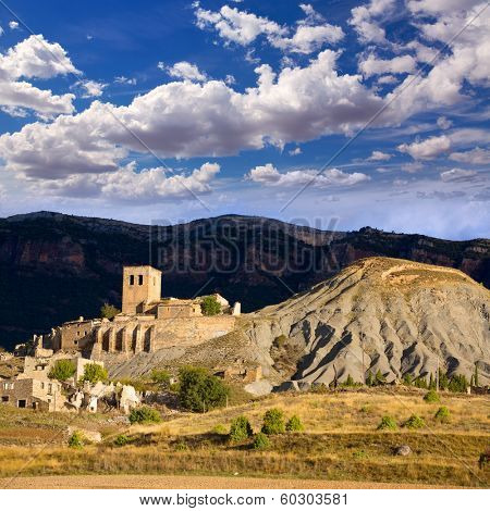 Esco village in Huesca Aragon Pyrenees of Spain