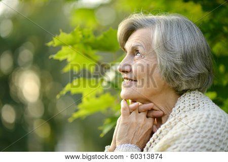 Senior woman on a walk