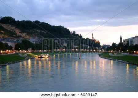 Salzburg in evening