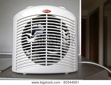 Overheated Electric Fan Heater