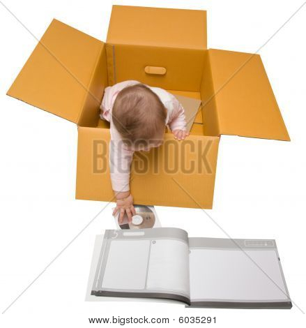 Baby In A Box With Instruction Manual And Setup Disk