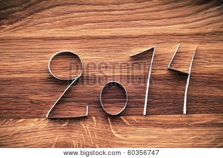 2014 Happy New Year Paper Digits.
