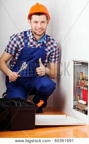 Man Repairing Valves