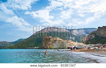 The Beach On Vulcano