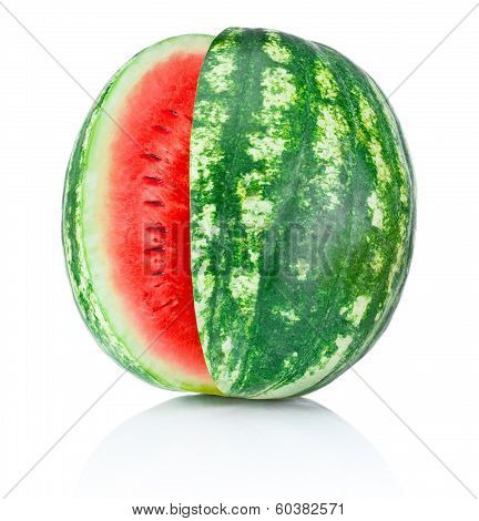 Watermelon With A Cut Isolated On White Background