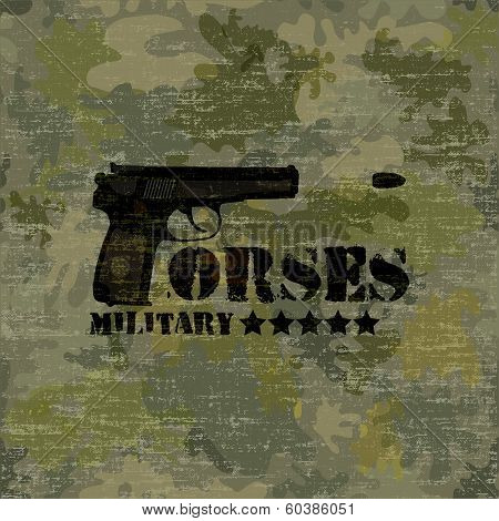 Military Seamless Background With Text Forses