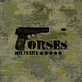Military seamless background with text forses vector poster