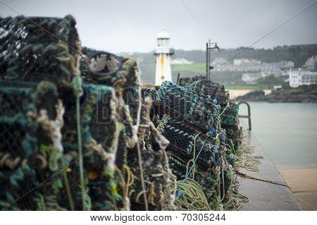 Fishing At St Ives Harbor