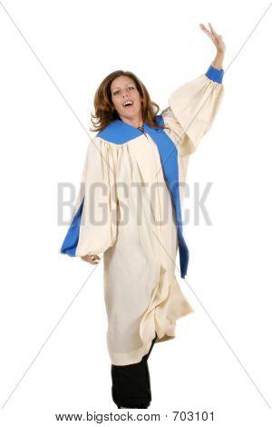 Joyful Woman In Praise