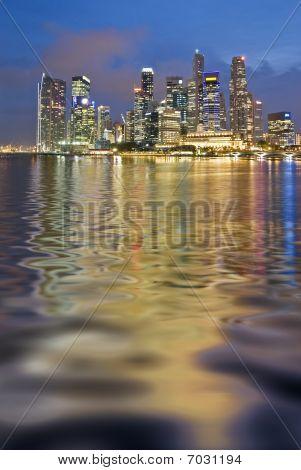 Wavy Reflection Of Singapore