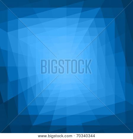 Abstract Blue Geometric Tunnel Background.