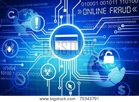 Digitally Generated Image of Online Fraud Concept