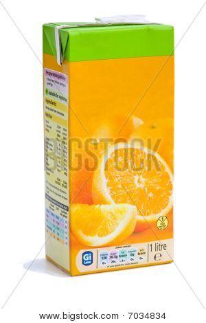Cartón de zumo de naranja
