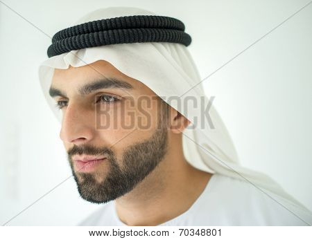 Arabian man profile