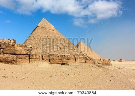The Great And 2nd Pyramids At Giza, Cairo