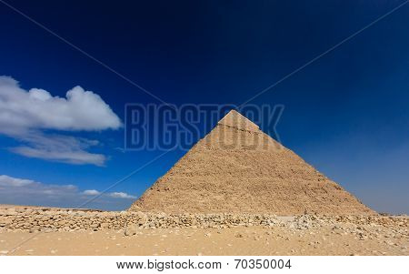 The Pyramid Of Khafre In Egypt