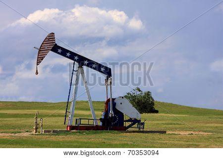 Patriotic Oil Rig