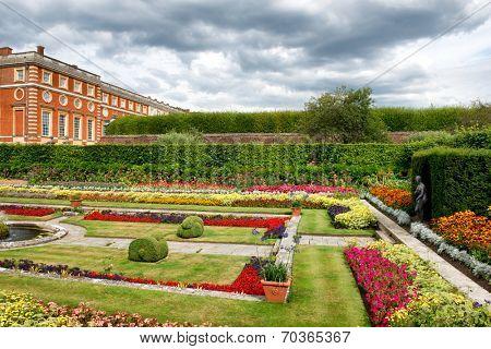 Sunken Gardens at Hampton Court Palace near London, UK