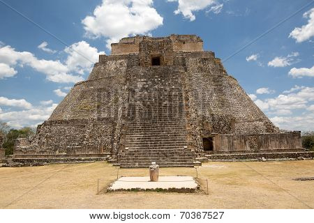 The Main Temple At Uxmal