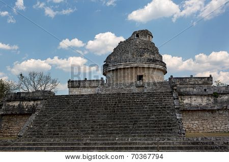 The Observatory In Chichen Itza