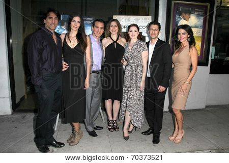LOS ANGELES - AUG 15: Vincent Spano, Claudia Graf, John Colella, S Fredricks, Andy Hirsch, Betsy Russell at the
