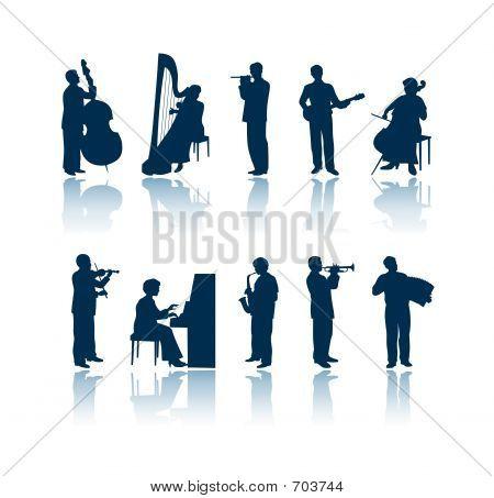 Musician Silhouettes