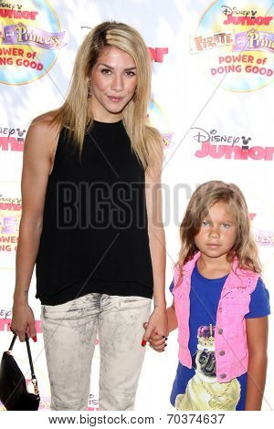 LOS ANGELES - AUG 16:  Allison Holker, Weslie Fowler at the Disney Junior's Pirate and Princess: Power of Doing Good at Avalon on August 16, 2014 in Los Angeles, CA