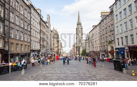 Edinburgh Scotland July 21: The Royal Mile Is A Succession Of Streets Which Form The Main Thoroughfa