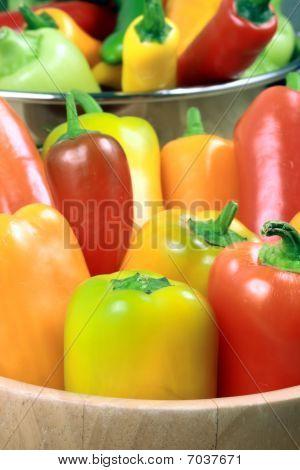 assortierte organisch peppers