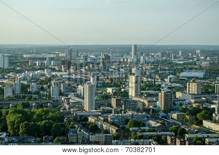 East London aerial view