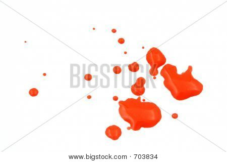 Red Wet Paint Splash