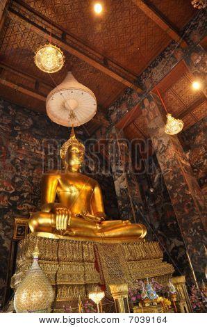 Gold Buddha Grand Mural